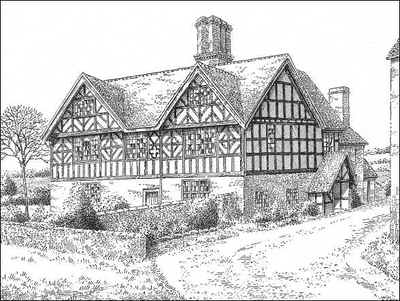 Drawing of Old Hall 1949
