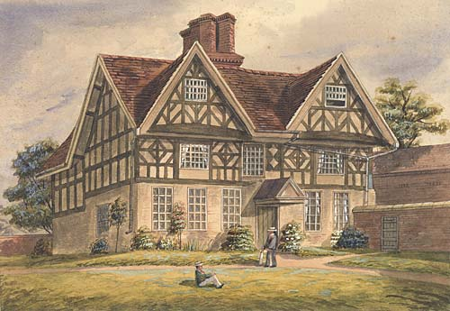 Old Hall watercolour (Handsworth Historical Society)