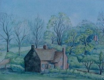 Painting of Newton Road - 1920's (sold on eBay 2005)