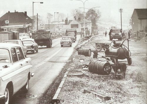 Widening of Newton Road in 1964