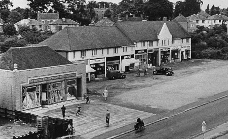 Birmingham Road shops in 1950's