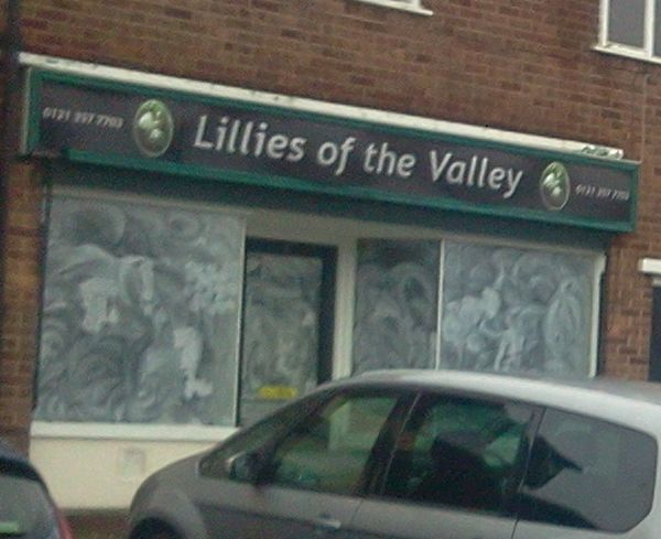 Lillies of the valley shop in Bowstoke Road