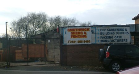 1a Old Walsall Road, Smethwick Sheds and Fencing in 2007
