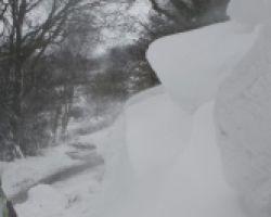Snow drifts Old Hall Lane, Barr Beacon